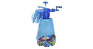 Splash and fun water bomb pump, including 150 depth charges